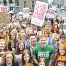 Ginger people at a gathering in Edinburgh