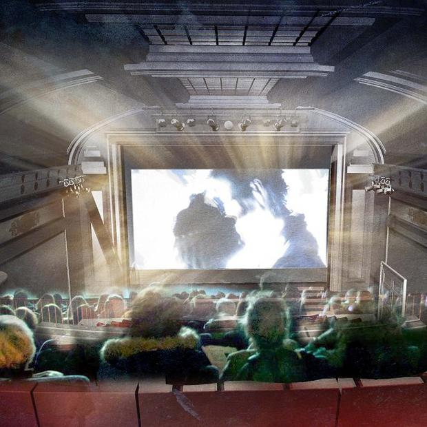 An artist's impression of a revamped Regent Cinema in London as Radio 4 broadcaster Sandi Toksvig threw her weight behind a project to restore the UK's oldest cinema