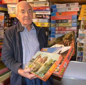 John Slattery, 79, has completed 665 secondhand jigsaws (KSS Air Ambulance)