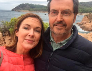 Angela with husband Peter on a trip to Spain