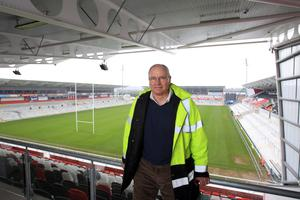 In the stands at Kingspan Stadium
