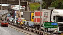 Traffic jam: Northern Ireland could face same queues at border as Dover if the UK abolishes protocol