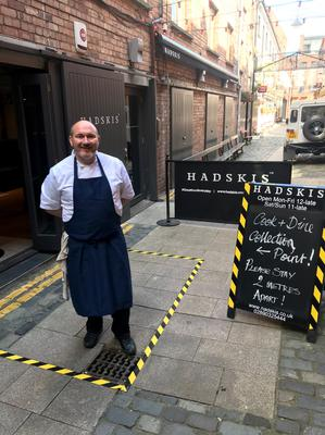 Chef and restaurant owner Niall McKenna outside his Hadskis venue