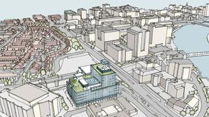 An artists impression of the plans. Pic Translink