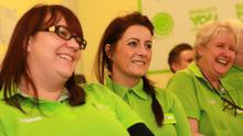 Staff at one of Asda's retail academies