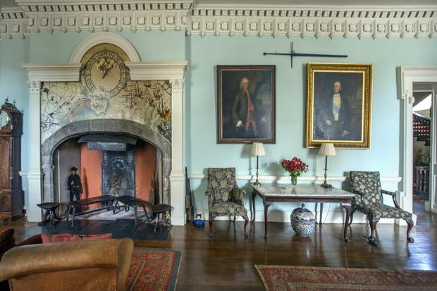 One of the many impressive rooms at Howth Castle