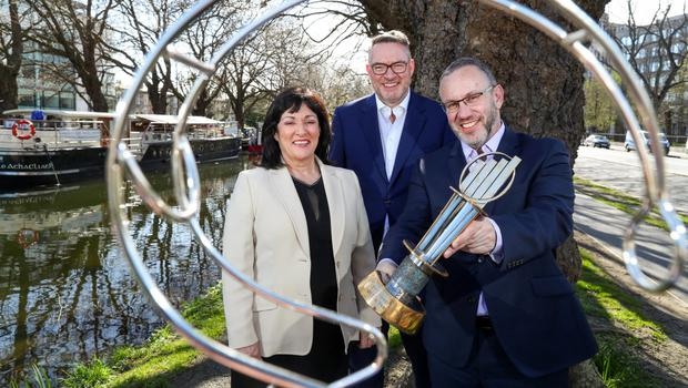 Anne Heraty, chief executive of CPL Resources plc and chairperson of the EY Entrepreneur Of The Year judging panel, Michael Carey, East Coast Bakehouse, EY Entrepreneur Of The Year judge and Kevin McLoughlin, partner lead for the EY Entrepreneur of The Year programme