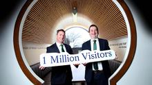 Andrew Cowan, chief executive of Matt D'Arcy's & Co in Newry, and William Lavelle, head of Drinks Ireland