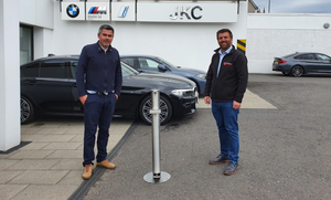 John Cassidy, JKC BMW and Mark Hutchinson, Hutchinson Engineering with the new HanSan 1000