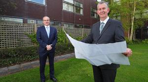 Minister Poots is pictured with CAFRE Director Martin McKendry at Greenmount Campus, Co.Antrim, where the Minsiter announced a £75million investment plan to refurbish both Greenmount Campus and Loughry College, Cookstown. Photo Kelvin Boyes PressEye
