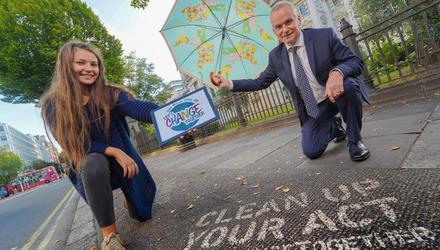 Translink group chief executive Chris Conway was joined by Emer Rafferty, the first ambassador of the company's new 'Changemakers' youth programme