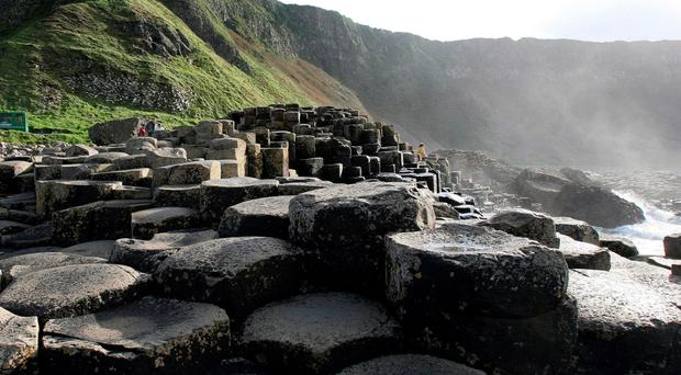 The Giant's Causeway has many tourists flocking to it