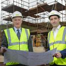 Braidwater founder and executive chairman Patrick McGinnis and his son, managing director Joe McGinnis, at the company's Fort Manor development in Dundonald