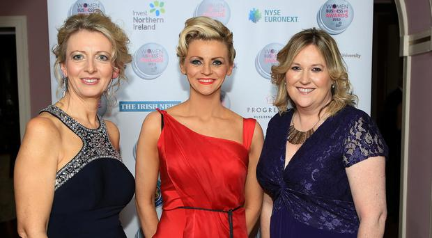 Women in Business NI Awards 2013: Kate Marshall, Chair of Women in Business NI and Roseann Kelly, Chief Executive of Women in Business NI with Claire McIntyre of NYSE Euronext at the third annual Women in Business NI Awards in association with Invest Northern Ireland. www.womeninbusinessni.com