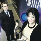 The Belfast Telegraph's David Elliott with Brenda Morgan, BA's partnership manager
