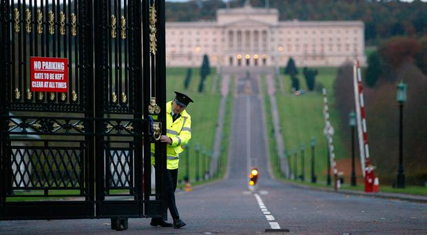Closed for business: The gates being shut at Stormont has opened the door for councils to tackle economic challenges