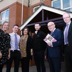 Lorna Brown, Choice project liaison officer; Chris Graham, building surveyor; Claire Darby, tenant involvement champion; Sean McBride, H&A Mechanical; Bill Jeffrey, chair of Choice Tenants' Forum; and Ciaran Andrews, Choice assets manager