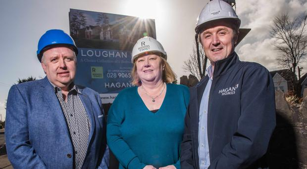 Arthur King, managing director, Eden Contractors Ltd; Sandra Finney, New Developments manager, Rodgers & Finney, and Jim Burke, director of Sales and Acquisitions, Hagan Homes