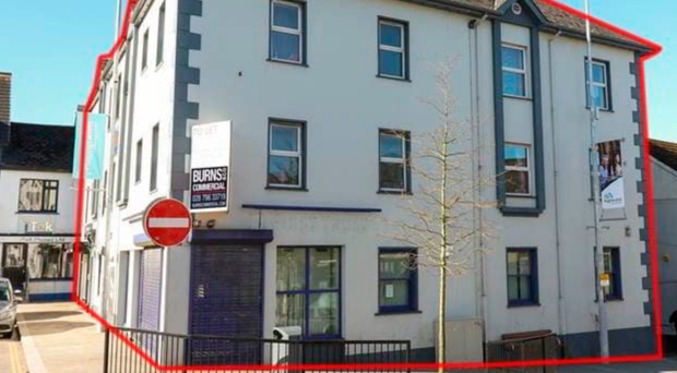 The prime commercial block in Magherafelt is now on the market