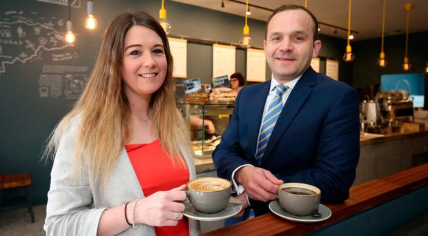 Hannah Houston, senior support manager at Ground, with Gary Martin, Lambert Smith Hampton associate director