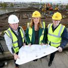 From left: Maurice McGivern of Killowen Contracts; Leona Barr, centre manager at The Junction, and Craig Stewart from The Lotus Group
