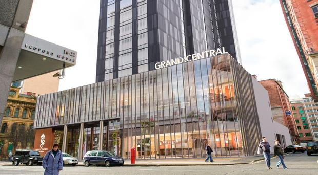 An artist's impression of the soon-to-open Grand Central Hotel in Belfast