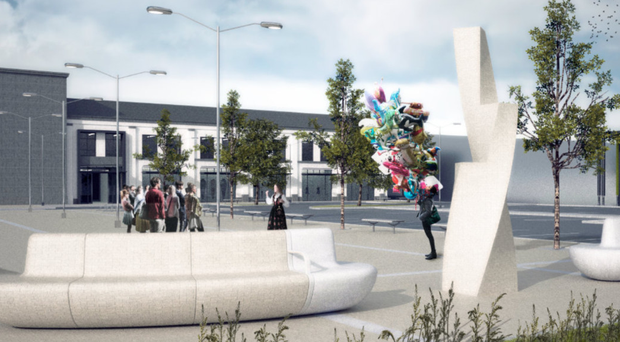A CGI impression of the planned hotel, retail and office development in Ann Street, Dungannon