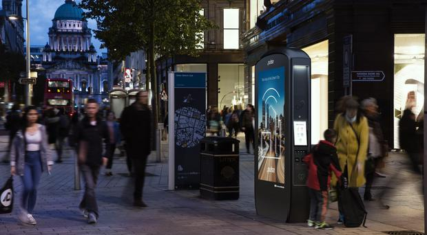The Pulse Smart Hubs will feature throughout Belfast city centre