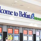 Belfast International Airport where the plane took off from