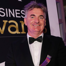 Brian Conlon at the Belfast Telegraph Business Awards in 2015