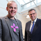 Chargifi CEO Dan Bladen (left) with Alastair Hamilton, Invest NI CEO