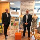 Kenneth Webb (left) of Ulster Weavers and HSBC's Marty Colvin