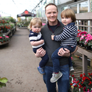 Alan Mercer of Hillmount Garden Centre with sons Jack and Olly