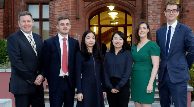 Mark Thompson, partner, ALG; Tiernan McKeown, solicitor, ALG; Chinese lawyers Chris Zhang and Teresa Yang; Sarah Dugdale, associate, ALG and Jonny Hacking, associate, ALG