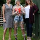 Co-founders Elaine Sykes (left) and Nadine McGurk of Welly WetSuit Ltd with model Jordan Sykes wearing the Welly WetSuit