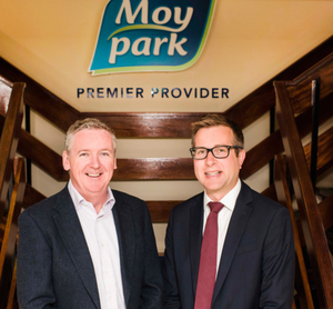 Andrew Richards of Moy Park (left) with Ulster Business editor David Elliott