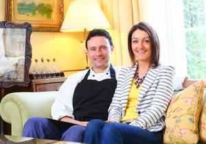 John and Louise Mathers, owners of Newforge House