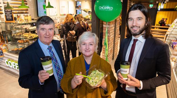 Trevor Annon, chairman and founder of Mount Charles, Sandra Moore MBE, CEO of The Welcome Oganisation and Gavin Annon, head of sales and marketing at Mount Charles