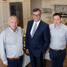 From left: Brian McCloskey, Alastair Hamilton, Invest NI chief executive, and Connor McCloskey of Woodland