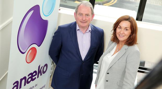 Alison Gowdy, Invest NI, with Denis Murphy from Anaeko