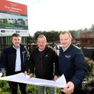 Jim Burke, director of sales and acquisitions, Hagan Homes, Brendan Mallon, managing director, Nollam Contracts Limited, the main contractor for the Frys Meadow project, and Trevor Kennedy, director of construction, Hagan Homes