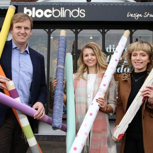 Cormac Diamond, Emma McKeown and Julie Lilley of Bloc Blinds