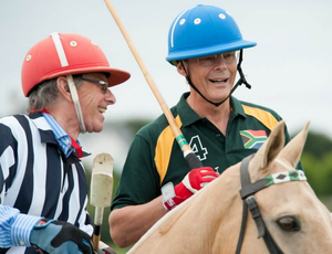 Dr Peter FitzGerald during a game of polo, his favourite sport