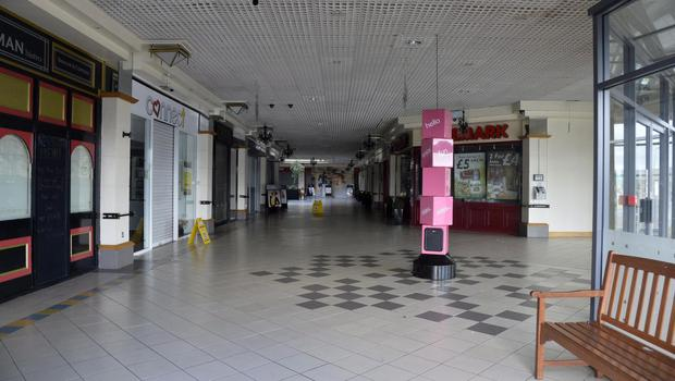 The empty Carryduff shopping centre pictured in 2016