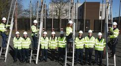 The first day of the BT apprenticeship at BT training centres in Antrim