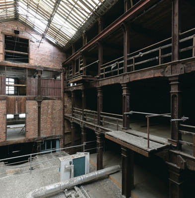 The interior of the former Riddel's Warehouse which after renovation is set to be home to several arts projects including the Royal Ulster Academy