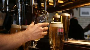 Establishments likely to fare best on the resumption of service are larger pubs and those with outdoor space or beer gardens.  (stock photo)