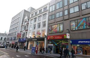 Shopper numbers in Donegall Place (pictured), CastleCourt and Victoria Square fell during January