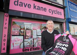 One of the many shops around Northern Ireland which went pink for the historic occasion