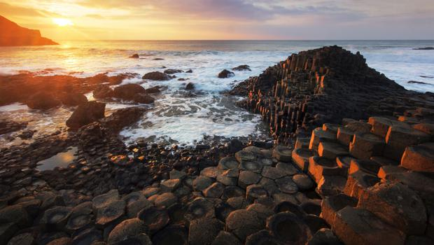 The Giant's Causeway was one of the big visitor attractions